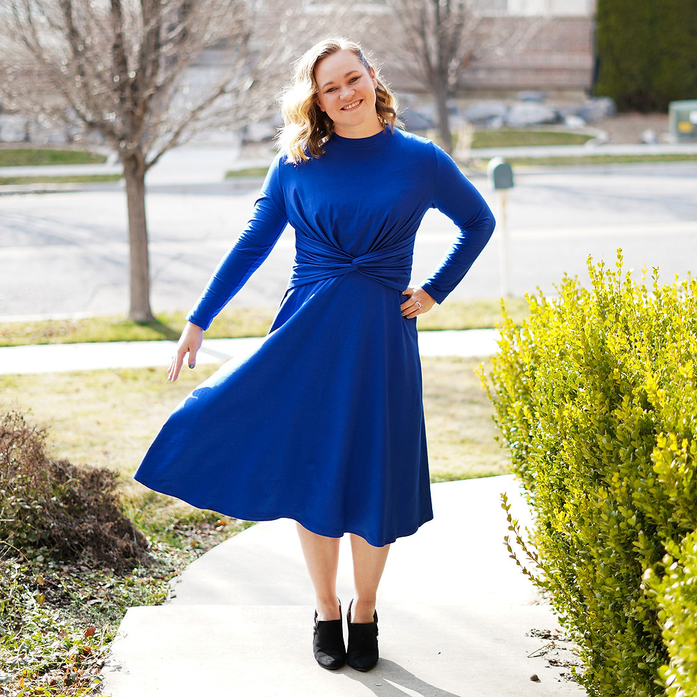 Knotted Midi Dress 01/2018 #101 by Burda Twist Dress Sewing Pattern Review for Women