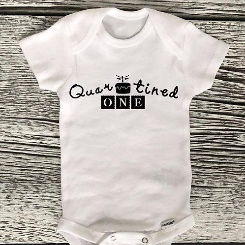 1st Birthday - Quarantined Onesie
