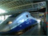 TGV train arrives at Aix en Porvence.