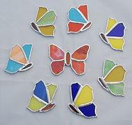 Tiffany Schmetterlinge WeStLi Kunst mit Glas