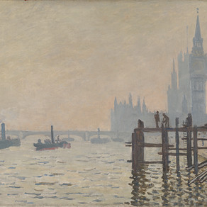 Monet's London and a glass of Fizz