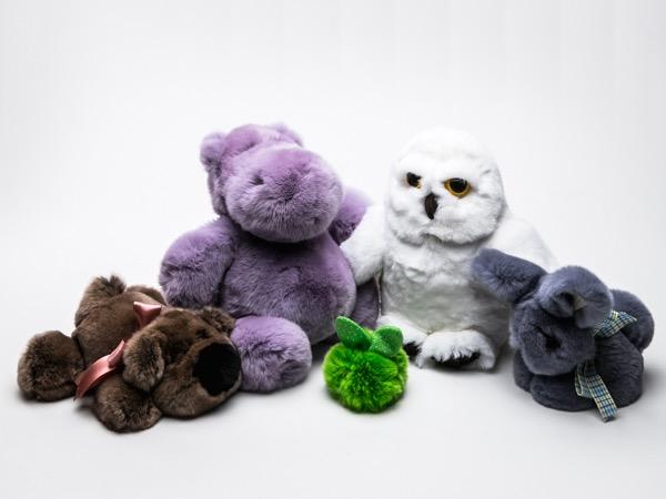 Игрушки из меха кролика Рекс от OnlyFur