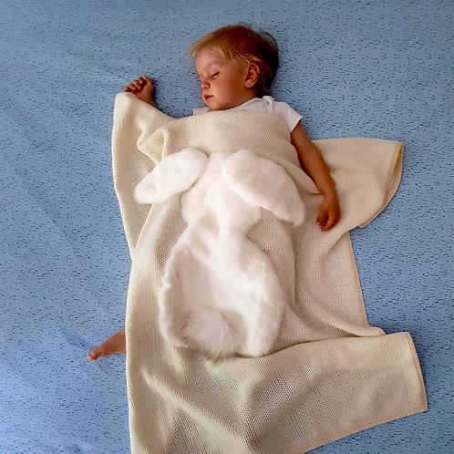 Волшебный детский Плед (белый)