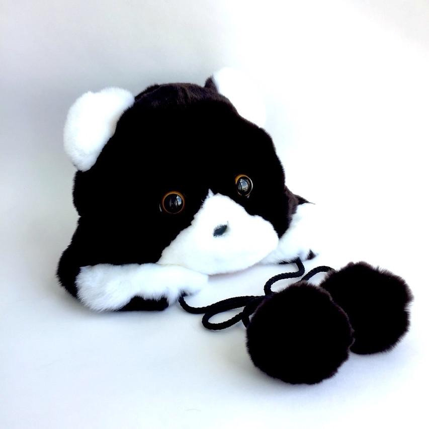 Детская шапка из натурального меха кролика Рекс