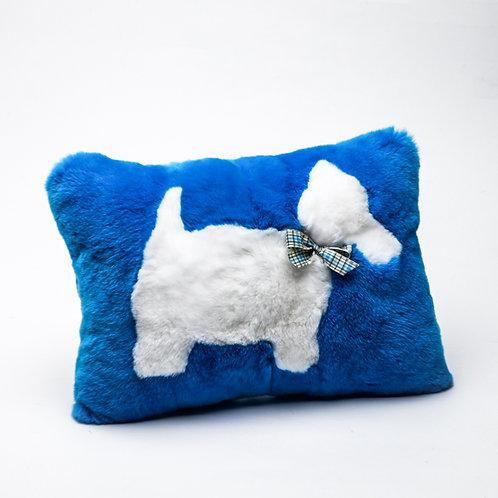 """Подушка """"Собака"""" (синяя)"""