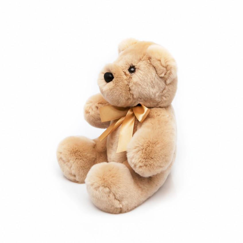 Игрушка Медведь Ретро из натурального меха кролика Рекс.