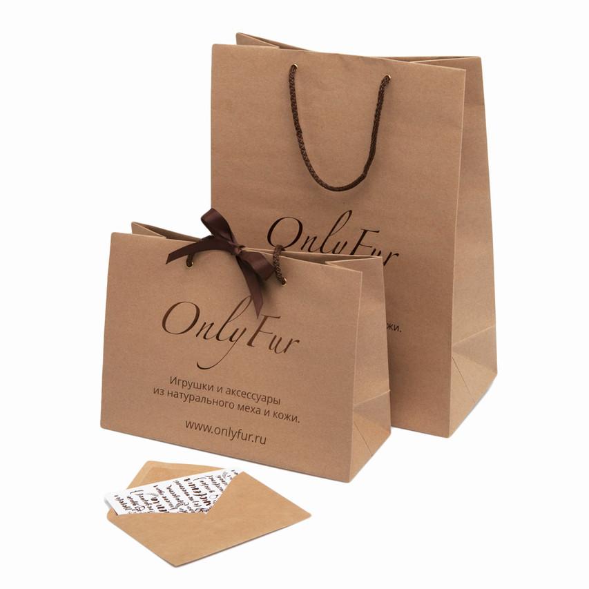 Фирменный пакет и открытка OnlyFur