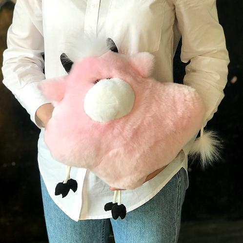 Подушка Бычок (розовая)