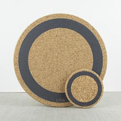 Cork Placemat Grey Circle