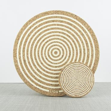 Cork Coaster Orbit (Cream)