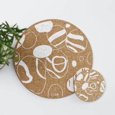 Cork Coaster Pebbles