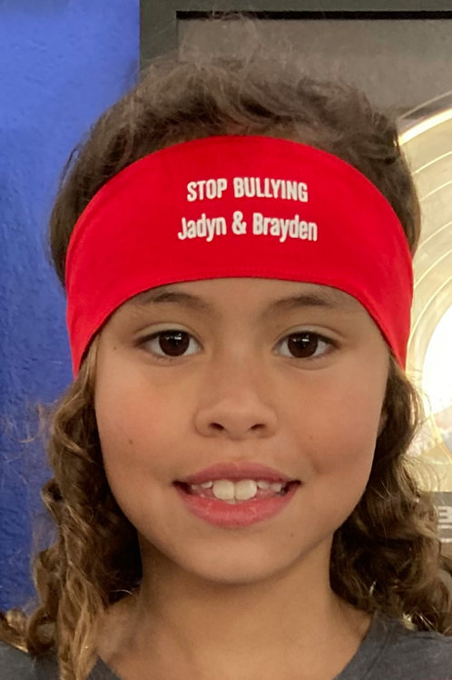 "Jadyn & Brayden ""Stop Bullying"" Headband"