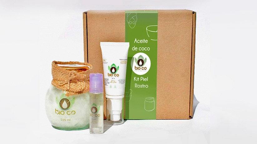 Kit aceite de coco piel rosto