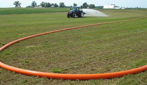 Robust flat hoses for agricultural solut