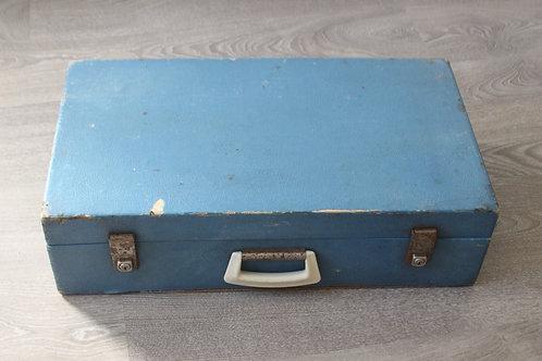 Vintage Blue Suitcase