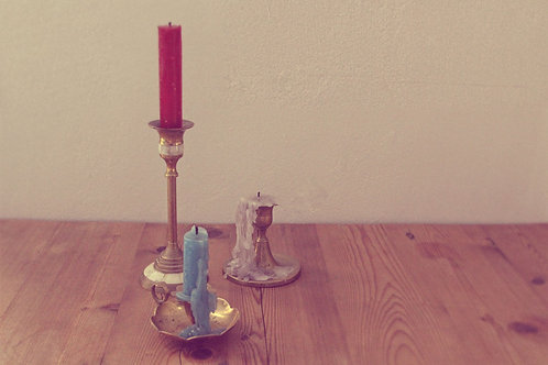 10 Various Sized Brass Candle Sticks