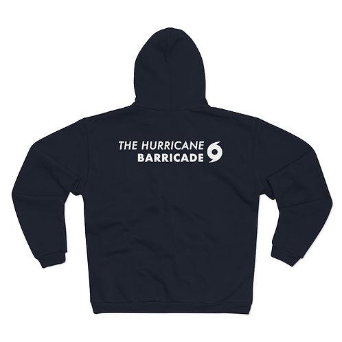 Hurricane Barricade Back - Hooded Zip Sweatshirt (Unisex)