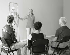Karla Booth Diamond teaches students posture and pain relief