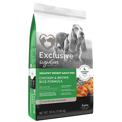 Exclusive Healthy Weight Dog Food - 30 lb. bag