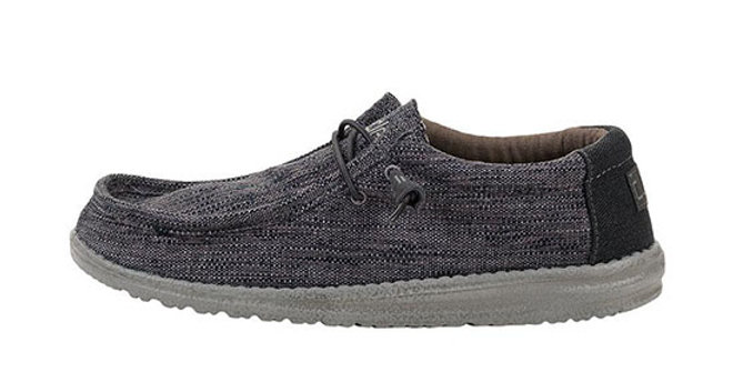 HeyDude Wally Woven Carbon
