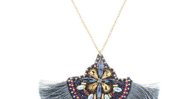 Jane Marie Beaded Tassel Necklace