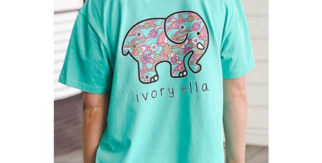 Ivory Ella Heritage Groovy Florals Oversized T-Shirt
