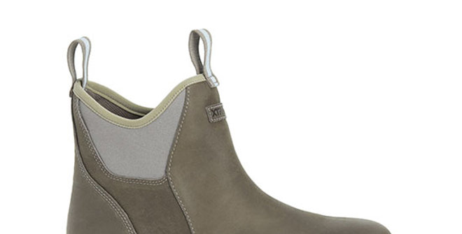 XtraTuf Men's Leather Ankle Deck Boot - Taupe
