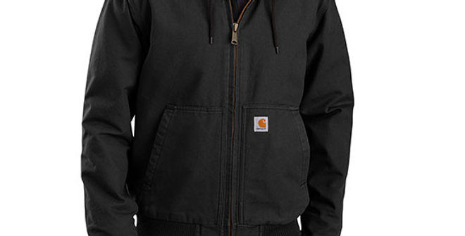 Carhartt Men's Washed Duck Insulated Active Jac Black