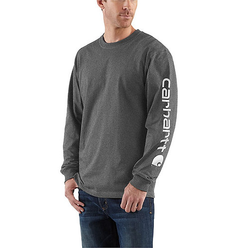 Carhartt Men's Workwear Long-Sleeve Graphic Carbon Heather T-Shirt