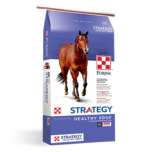 Purina Strategy Healthy Edge Horse Feed - 50 lb. bag
