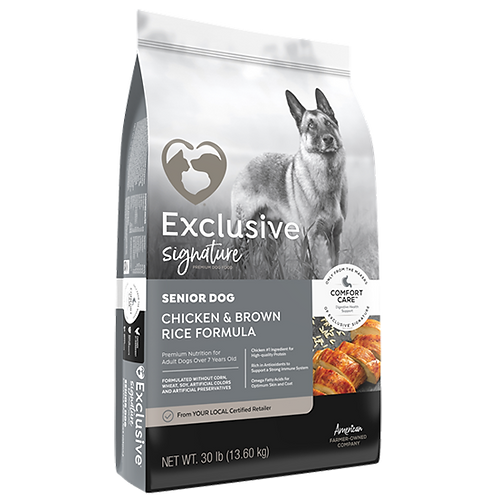 Exclusive Signature Senior Dog Food - 30 lb. bag