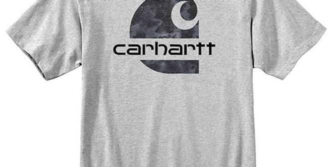 Carhartt Men's Heavyweight Camo Carhartt C T-Shirt