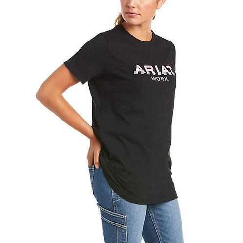 Ariat Women's Rebar Cotton Strong Logo T-Shirt