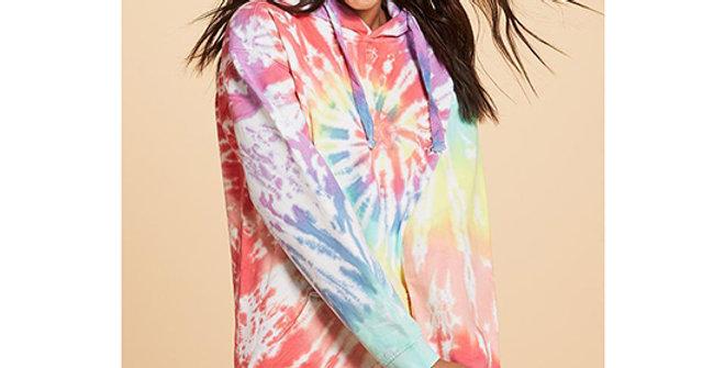 Ivory Ella Tie Dye Oversized Hoodie