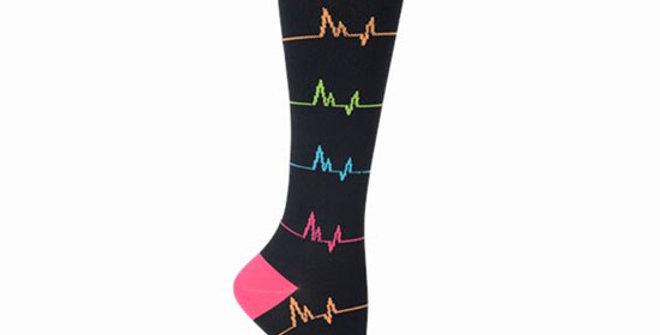 Nurse Mates EKG Compression Socks