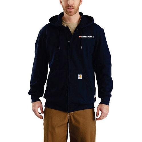 FBT Carhartt FR Rain Defender Hooded Heavyweight Zip-Front Sweatshirt