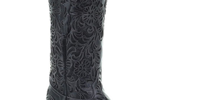 Corral Women's Black Floral Cowboy Boot