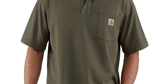 Carhartt Men's Loose Fit Short-Sleeve Pocket Polo