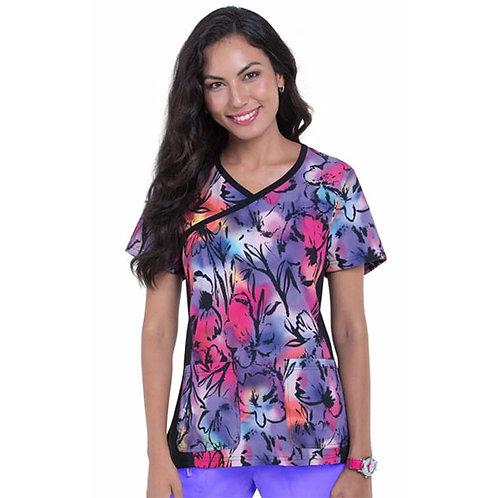 Koi Raquel Top in Colorful Petals