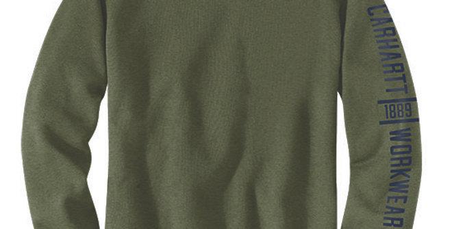 Carhartt Men's Original Fit Midweight Crewneck Winter Moss Heather Sweatshirt
