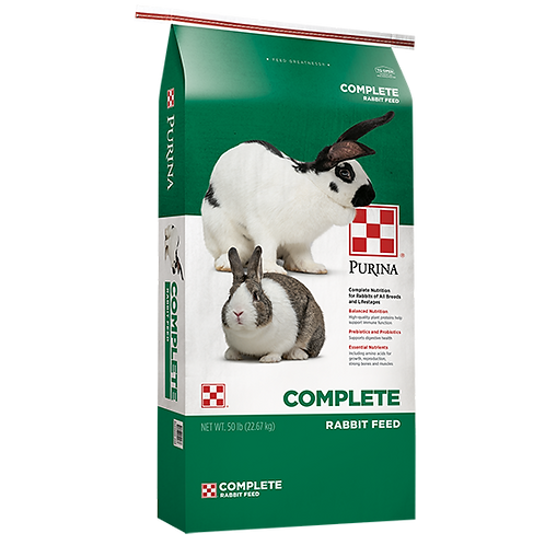 Purina Complete Rabbit Feed - 50 lb. bag