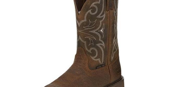 Justin Men's Amarillo Chocolate Steel Toe Boot