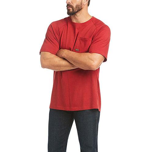 Ariat Men's Rebar Cotton Strong T-Shirt - Rio Red