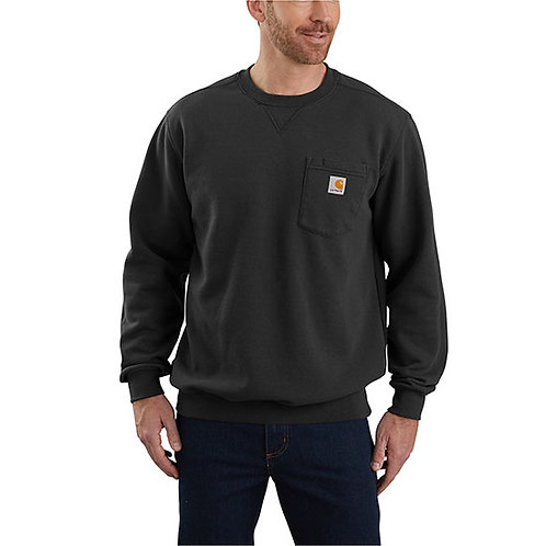 Carhartt Men's Crewneck Pocket Black Sweatshirt