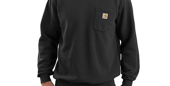 Carhartt Men's Crewneck Pocket Black Sweatshirt