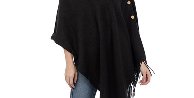 Top it Off 3-in-1 Solid Black Wrap