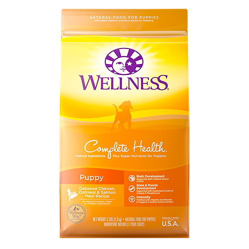 Wellness Complete Health Puppy Deboned Chicken, Oatmeal and Salmon - 5 lb. bag