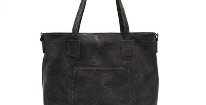 Joy Susan Terri Traveler Zip Tote Handbag in Black