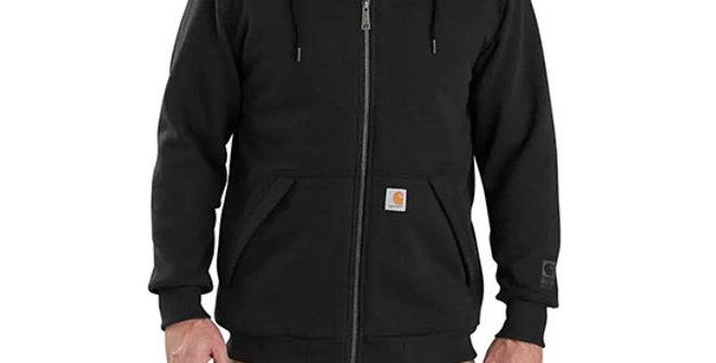 Carhartt Men's Rain Defender Rockland Sherpa-Lined Hooded Sweatshirt