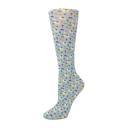 Cutieful 8-15 mmHG Sheer Compression Socks - Llamas